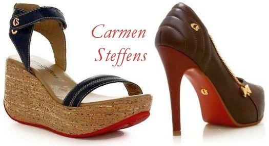 Sapatos Carmen Steffens com sola vermelha