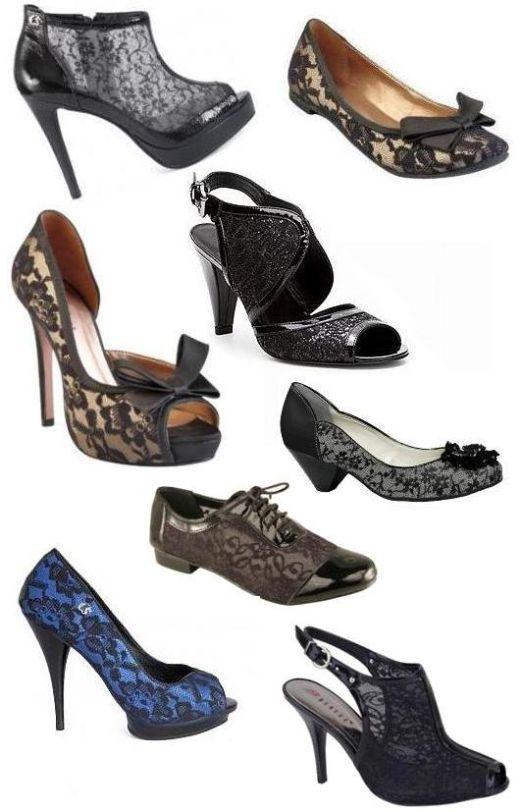 Moda outono inverno 2011: sapatos com renda