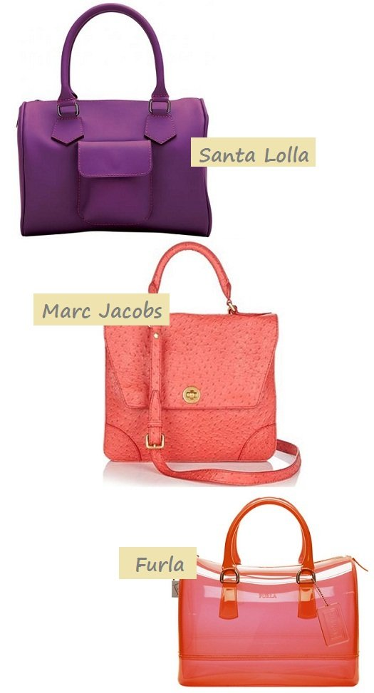 Bolsa de borracha (rubber bags): Santa Lolla, Marc Jacobs, Furla