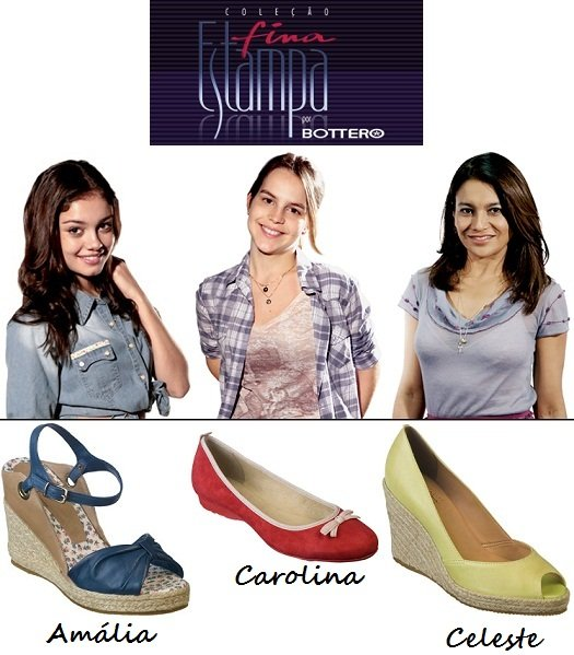 """Sapatos da novela """"Fina Estampa"""": Amália, Carolina e Celeste"""