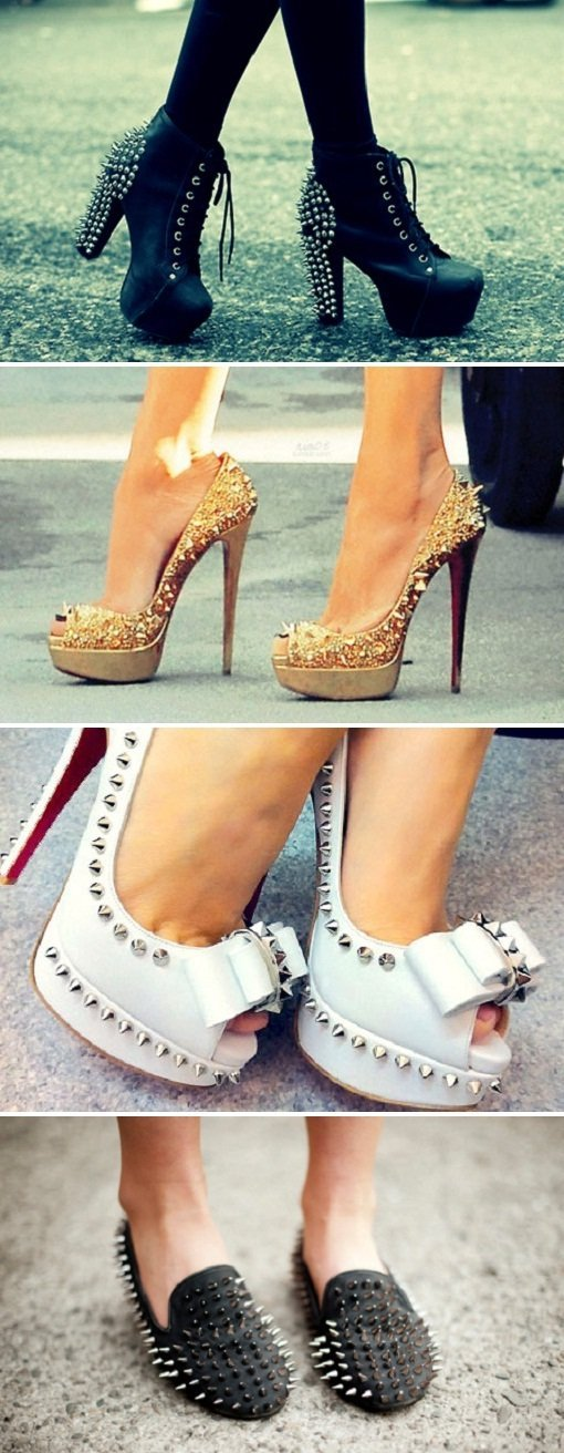 Spiked shoes, sapatos com spikes