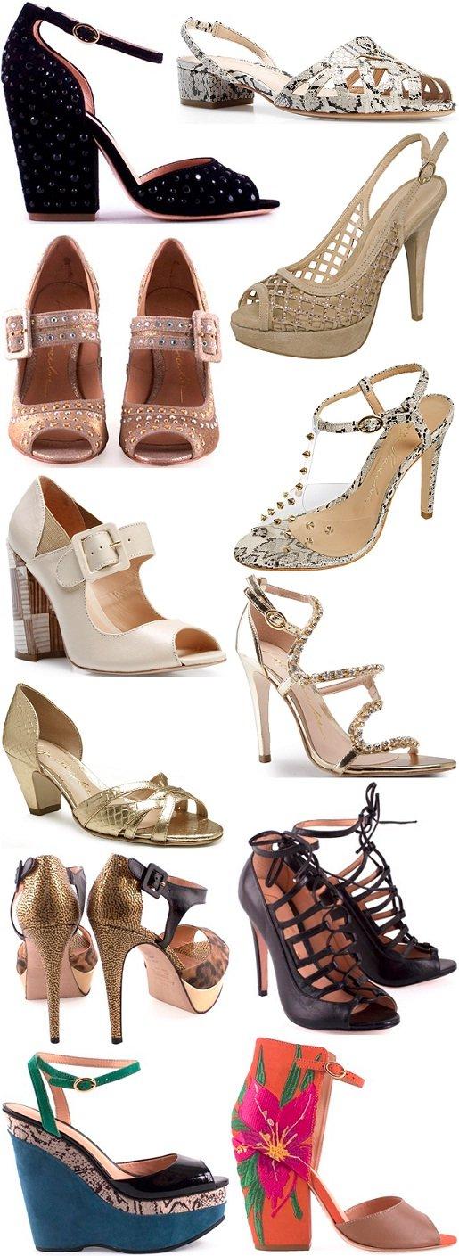 92f875089 Moda primavera-verão 2012-2013 - Sandálias de salto Luiza Barcelos