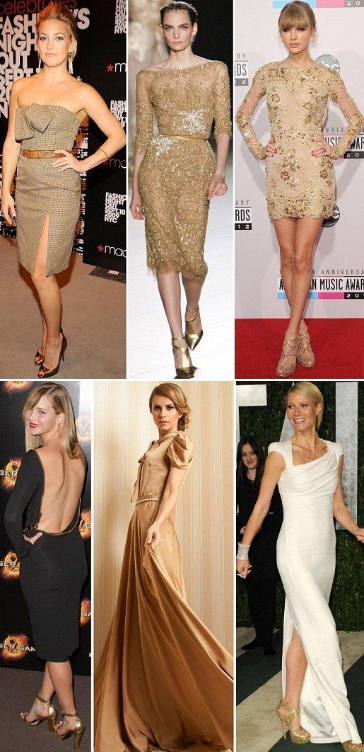 Que sapatos combinar com um vestido cor nude