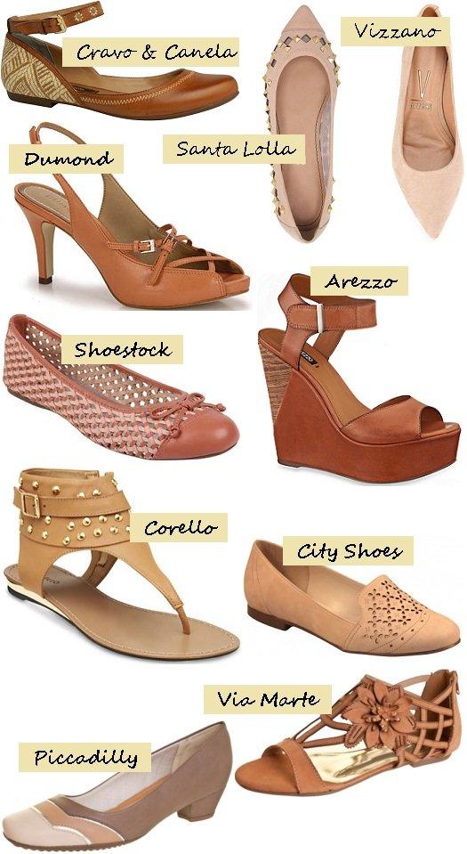 dc9084fd7 Moda sapatos verão 2013-2014: nude e tons terrosos - Amo Sapatos