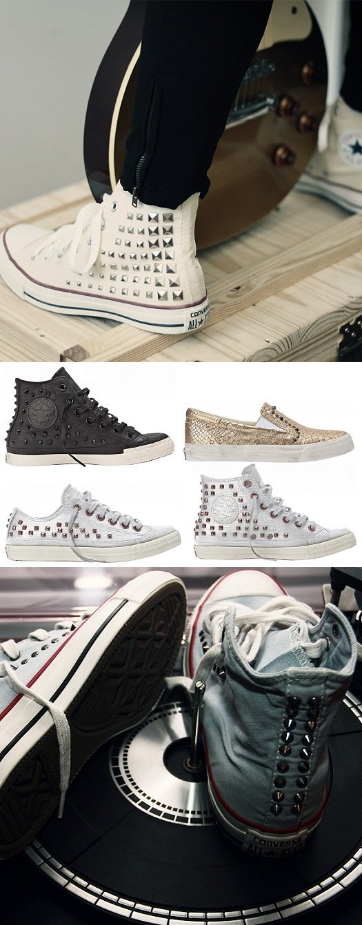 Converse All Star Collar Studs - All Star feminino - All Star masculino - All Star de couro - All Star branco - Converse