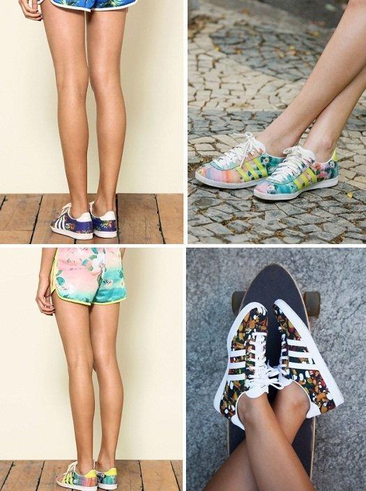 10238af4b08 Adidas Originals Farm  para pés estampados e floridos - Amo Sapatos