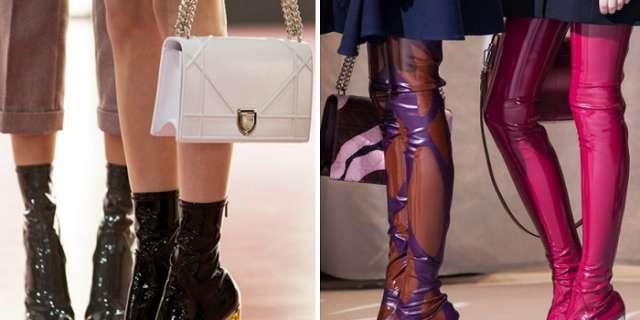 Tendência inverno 2015-2016 da Dior: bota com salto de acrílico